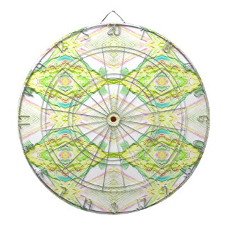 Vibrant Bright Lemon Lime Pastel Tribal Dartboards