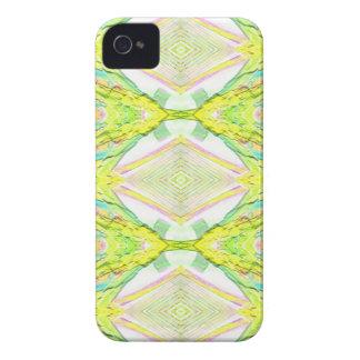 Vibrant Bright Lemon Lime Pastel Tribal iPhone 4 Cover