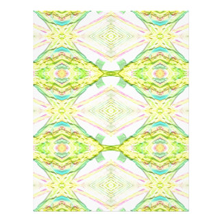 Vibrant Bright Lemon Lime Pastel Tribal Letterhead