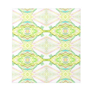 Vibrant Bright Lemon Lime Pastel Tribal Notepad