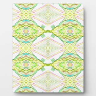 Vibrant Bright Lemon Lime Pastel Tribal Plaque