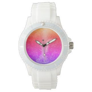 """""""Vibrant Bright Tranquil Waterfall"""" Wrist Watches"""