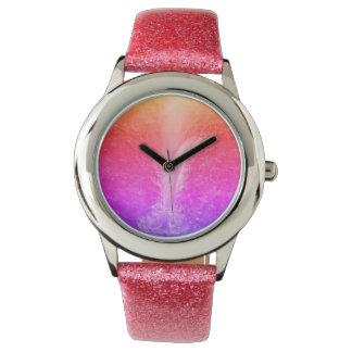 """""""Vibrant Bright Tranquil Waterfall"""" Wristwatch"""
