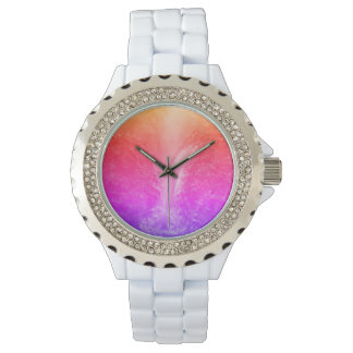 """""""Vibrant Bright Tranquil Waterfall"""" Wristwatches"""