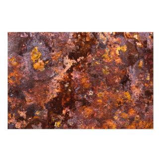 Vibrant Brown Rustic Iron Texture Photographic Print