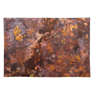 Vibrant Brown Rustic Iron Texture Placemat