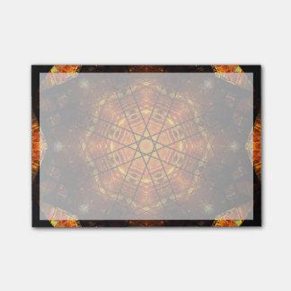 Vibrant Burning Star Mandala Post-it Notes