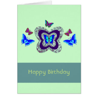 Vibrant Butterflies Any Occassion Greeting Card