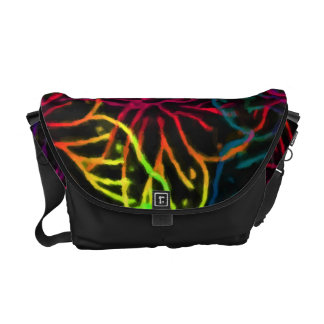 Vibrant Butterflies on Black Commuter Bag