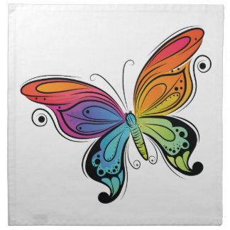 Vibrant Butterfly Cloth Napkins