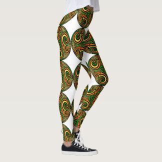 Vibrant Circular Celtic Design Leggings