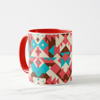 Vibrant color abstract mug