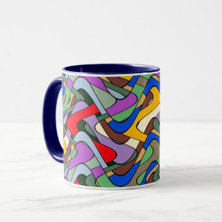 Vibrant color abstract pattern mug
