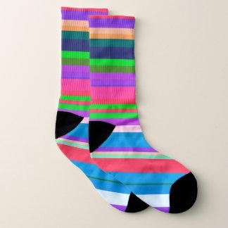 Vibrant color stripe pattern socks