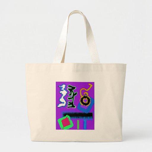 Vibrant coloré moderne de ~ d'art moderne de ~ de  sacs en toile