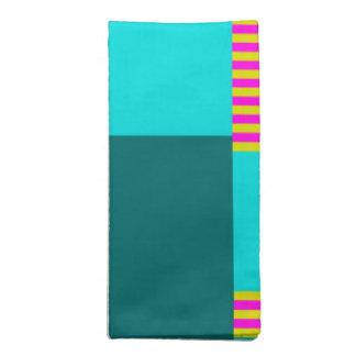 Vibrant Colored Patchwork Design on Cloth Napkin