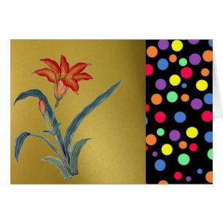 Vibrant Colored Polka Dots Card