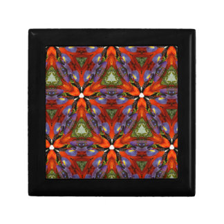 Vibrant Colorful Funky Kaleidoscope Pattern Jewelry Boxes