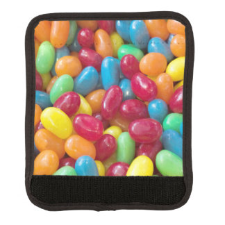 Vibrant Colorful Jelly Beans Luggage Handle Wrap