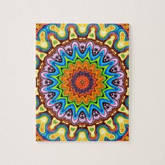 Vibrant Colorful Mandala Jigsaw Puzzle