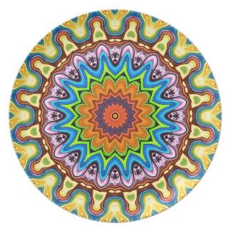 Vibrant Colorful Mandala Plate