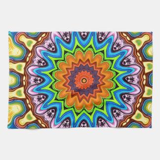 Vibrant Colorful Mandala Towels