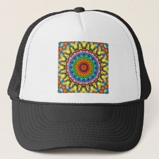 Vibrant Colorful Mandala Trucker Hat