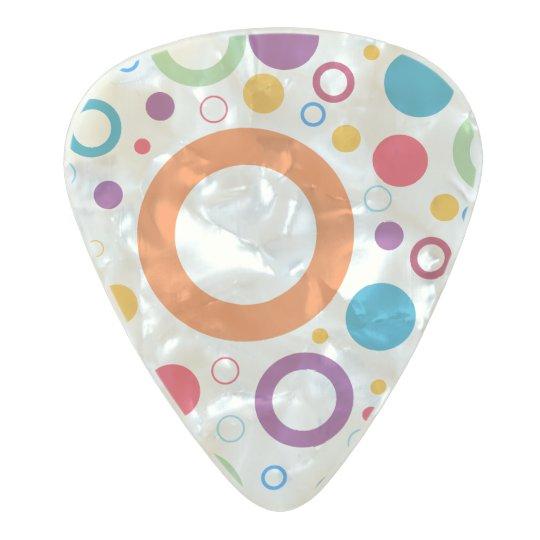Vibrant colour circles pearl celluloid guitar pick