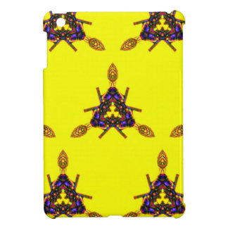 Vibrant Cool Funky Yellow Seamless Pattern Case For The iPad Mini
