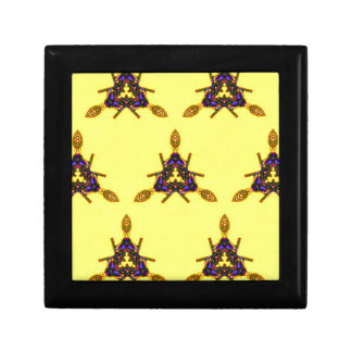 Vibrant Cool Funky Yellow Seamless Pattern Jewelry Boxes