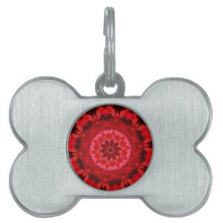 Vibrant Crotchet Rose Kaleidoscope Pet Tags