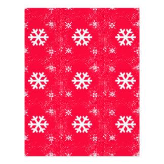 Vibrant Cute Christmas SnowFlakes Custom Letterhead