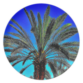 Vibrant Date Tree Party Plate