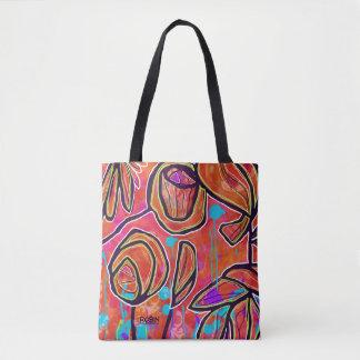 Vibrant Digital Art Tote or Cross Body Bag