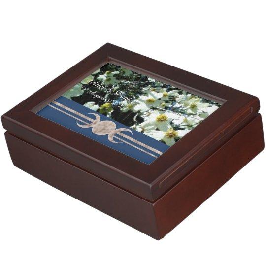 Vibrant Dogwood Triple Moon Handfasting Cord Box Keepsake Boxes