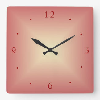 Vibrant Dusty Pink/lemon >Kitchen Clock