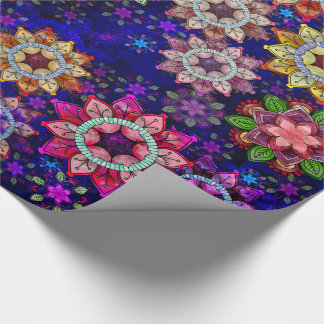 Vibrant Exploding Watercolor Mandalas Wrapping Paper