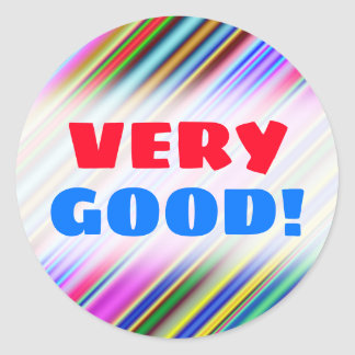 Vibrant & Eyecatching Multicolored Stripes Pattern Classic Round Sticker