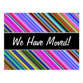 Vibrant & Eyecatching Multicolored Stripes Pattern Postcard