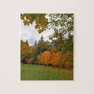 Vibrant Fall Colors in Oregon City Park Jigsaw Puzzle