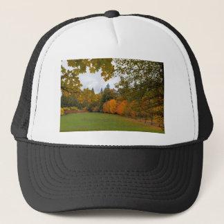 Vibrant Fall Colors in Oregon City Park Trucker Hat