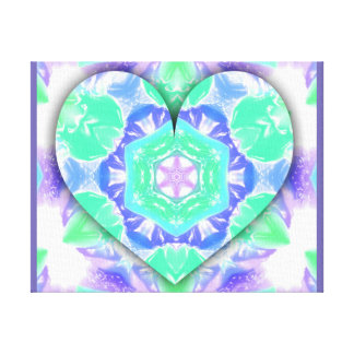 Vibrant Festive 3d Heart Baby Room Decor Canvas Print