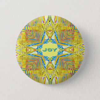 "Vibrant Festive Inspirational ""JOY"" Uncommon 2 Inch Round Button"