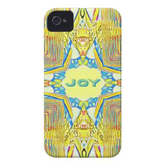 "Vibrant Festive Inspirational ""JOY"" Uncommon Case-Mate iPhone 4 Case"