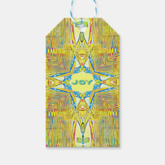 "Vibrant Festive Inspirational ""JOY"" Uncommon Gift Tags"