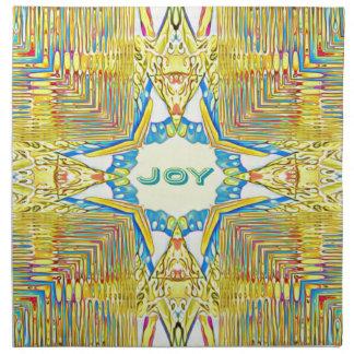 "Vibrant Festive Inspirational ""JOY"" Uncommon Napkin"
