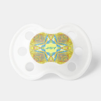 "Vibrant Festive Inspirational ""JOY"" Uncommon Pacifier"