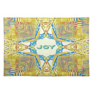 """Vibrant Festive Inspirational """"JOY"""" Uncommon Placemat"""