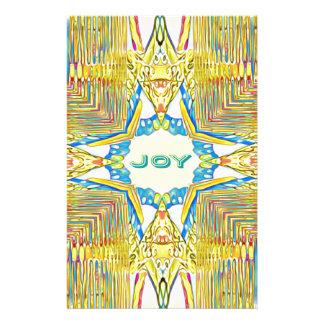 "Vibrant Festive Inspirational ""JOY"" Uncommon Stationery"