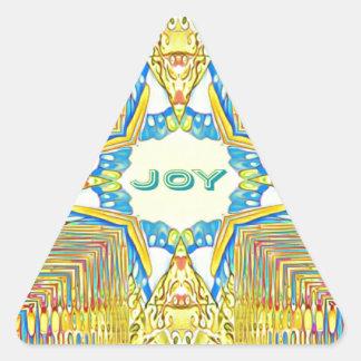 "Vibrant Festive Inspirational ""JOY"" Uncommon Triangle Sticker"